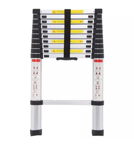 Image of 3.2m Portable Heavy Duty Aluminium Telescopic Ladder Extendable
