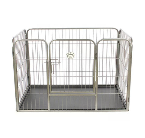 Image of Heavy Duty Puppy Playpen Run Crate Enclosure Whelping Dog Cage inc Floor