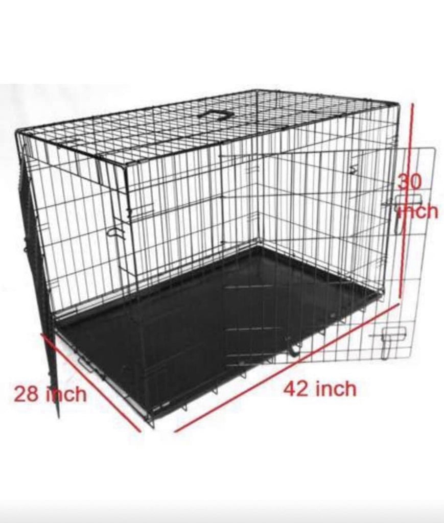 "Extra Large 42"" Folding Dog Cage / Dog Crate / Puppy Cage"