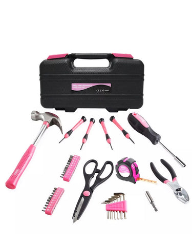 Image of 39 piece Pink DIY Tool Kit Set