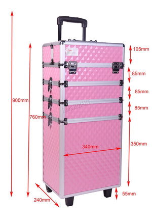 Beautiful Makeup Case Trolley Aluminium 4 In 1 In Various Colours