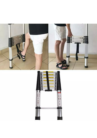 5M Heavy Duty Aluminium Telescopic Ladder Extendable Steps EN131