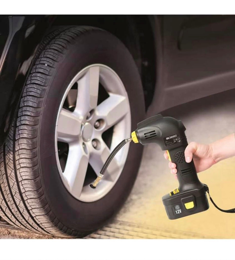 Rechargeable Cordless Tyre Inflator Air Compressor Car Pump