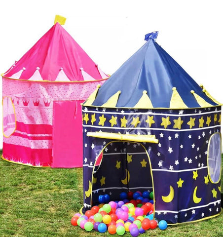 Image of Childrens Kids Pop Up Castle Playhouse Gazebo Girls Princess Boys Wizard Play Tent