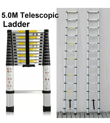 Aluminium Telescopic Ladder 2.6M TO 6M Heavy Duty