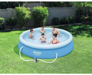 10ft & 12ft inflatable outdoor swimming pool with filter