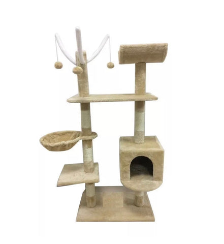 Image of Deluxe Scratching Scratch Post Kitten Cat Climbing Frame