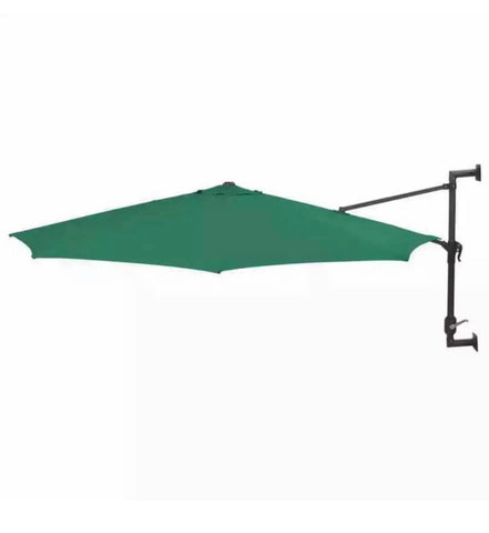 Wall Mounted Parasol Outdoor Patio Umbrella Sun Shade 3m 9.8ft
