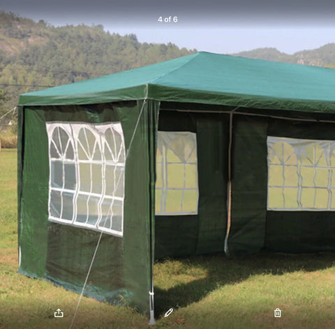 Heavy Duty Gazebo Marquee 3 x 6M Green, Blue or White