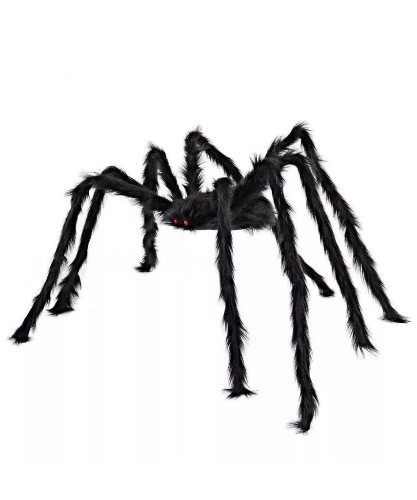 ⭐️Brand New 6.5FT / 2M Large Black Spider Halloween Decoration Haunted House