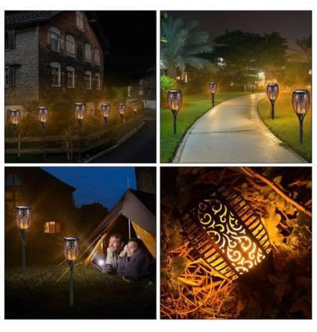 Brand New Solar Garden Lights waterproof LED flickering flames torch landscape