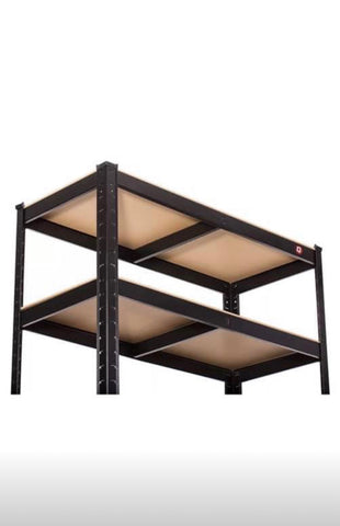 Heavy Duty Black Metal Garage Shelving Racking Unit Storage Rack 180 x 90 x 40cm