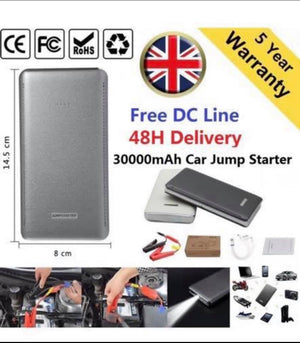 Car Jump Start 30000mAh 12V Battery Charger Booster Power Pack Starter Rescue