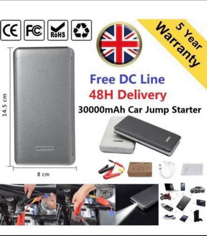 Image of Car Jump Start 30000mAh 12V Battery Charger Booster Power Pack Starter Rescue