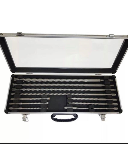 11 PIECE SDS & DRILL BIT SET IN ALUMINIUM CASE