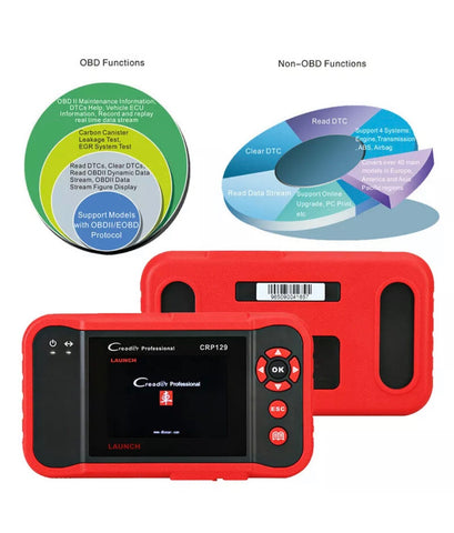 VIII OBD2 EOBD CAN Scanner SAS ABS Engine Code Reader