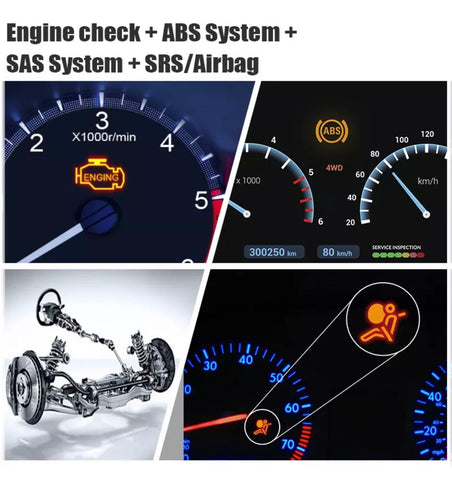 OBD2 OBD 2 ABS Airbag SRS Reset Tool OBD2 Car Code Reader Scanner Diagnostic