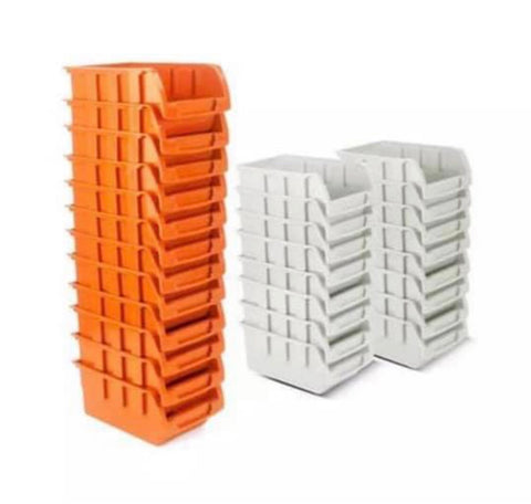Image of 65 piece / 44 piece Wall Rack Mounted Storage Lin Bins & Board Set For Garage DIY Tools Rack Organizer