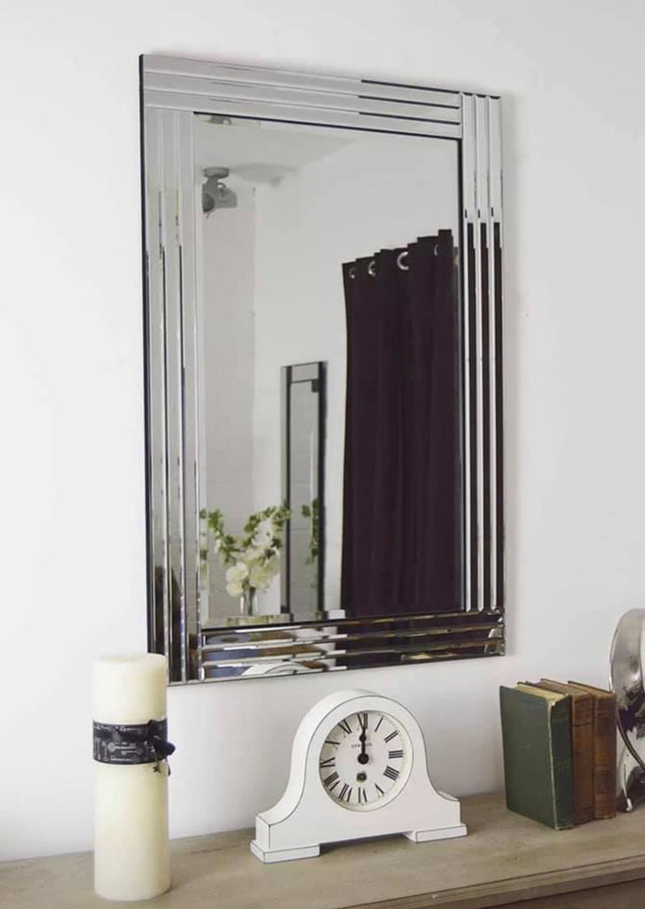 Large Triple Bevelled Wall Mirror