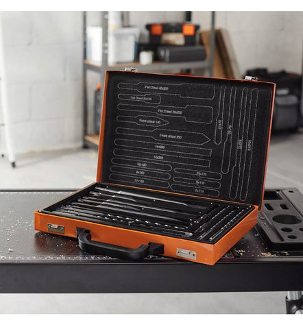 Image of 17 PIECE SDS PLUS DRILL BIT & CHISEL SET