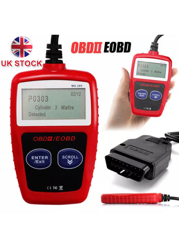 Image of OBD2 EOBD Scanner Car Fault Engine Diagnostic Code Reset