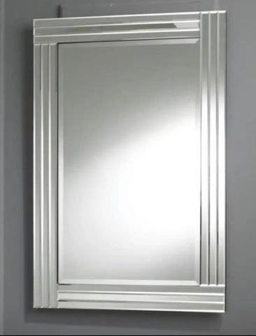 Image of Large Triple Bevelled Wall Mirror