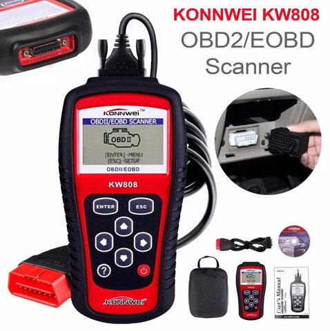 Image of OBD2 OBD 2 Scanner CAN Engine Reset Tool Car Diagnostic Code Reader UK