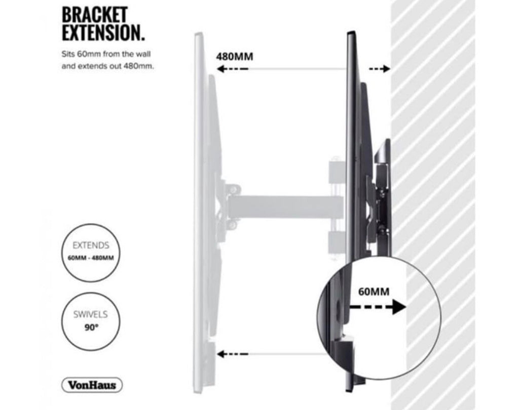 "23-56"" Tilt & Swivel TV bracket was £40 now £25"