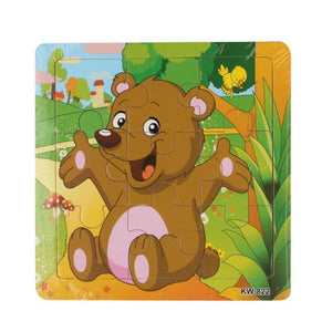 Wooden Puzzle Animal Bear Jigsaw