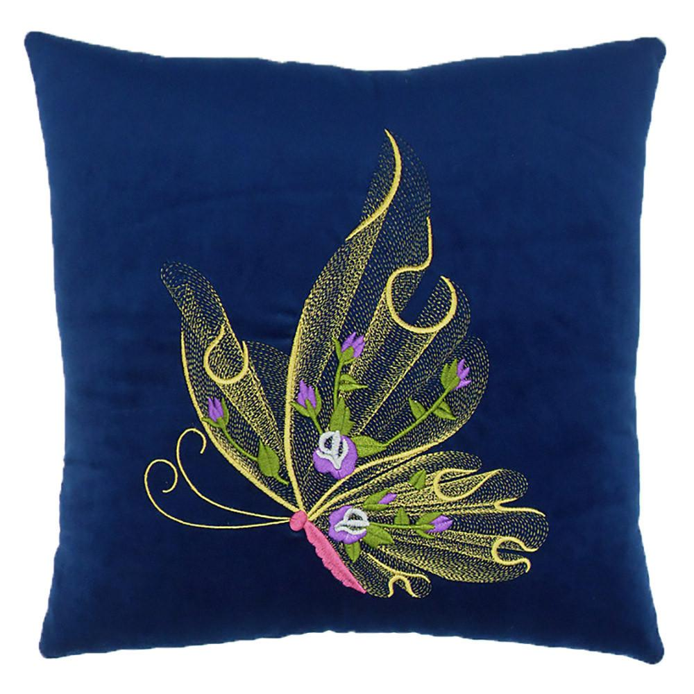 Creative Home Butterfly Pillow - Blue