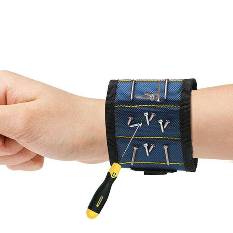 Image of Magnetic Wristband with Strong Magnets for Holding Screws, Nails, Screwdrivers