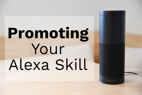 Image of promoting an alexa skill