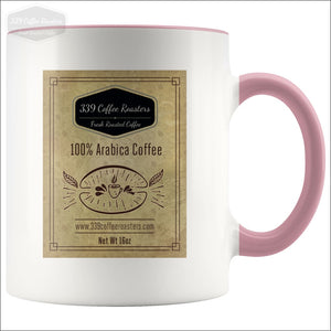 Accent Coffee Label Mug - Pink - Drinkware 339 Coffee Roasters