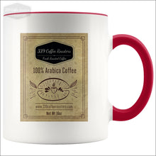 Accent Coffee Label Mug - Red - Drinkware 339 Coffee Roasters