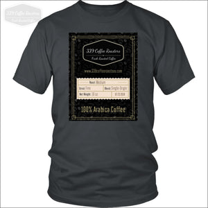 Black Label Shirt - District Unisex Shirt / Charcoal / S - T-Shirt 339 Coffee Roasters