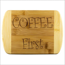 Coffee First Bamboo Cutting Board - Round Edge Wood Cutting Board - Wood Cutting Boards 339 Coffee Roasters