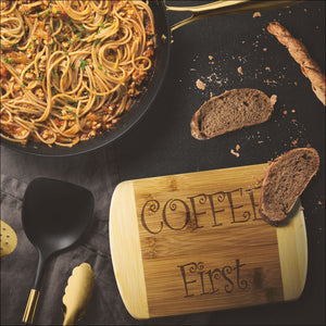 Coffee First Bamboo Cutting Board - Wood Cutting Boards 339 Coffee Roasters