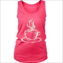 Ladies Hot Coffee Tank Top - District Womens Tank / Neon Pink / S - T-shirt 339 Coffee Roasters