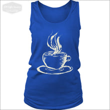 Ladies Hot Coffee Tank Top - District Womens Tank / Royal Blue / S - T-Shirt 339 Coffee Roasters