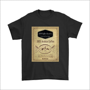 Mens Coffee Label T-shirt - Gildan Mens T-Shirt / Black / S - T-shirt 339 Coffee Roasters