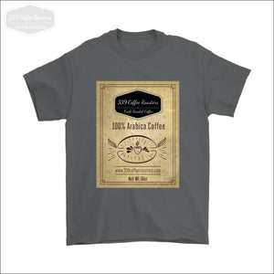 Mens Coffee Label T-shirt - Gildan Mens T-Shirt / Charcoal / S - T-shirt 339 Coffee Roasters