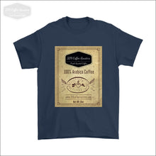 Mens Coffee Label T-shirt - Gildan Mens T-Shirt / Navy / S - T-shirt 339 Coffee Roasters