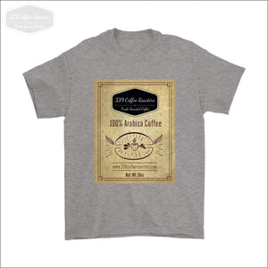 Mens Coffee Label T-shirt - Gildan Mens T-Shirt / Sport Grey / S - T-shirt 339 Coffee Roasters