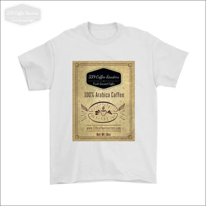 Mens Coffee Label T-shirt - Gildan Mens T-Shirt / White / S - T-shirt 339 Coffee Roasters