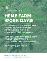Hemp Farm Work Days!