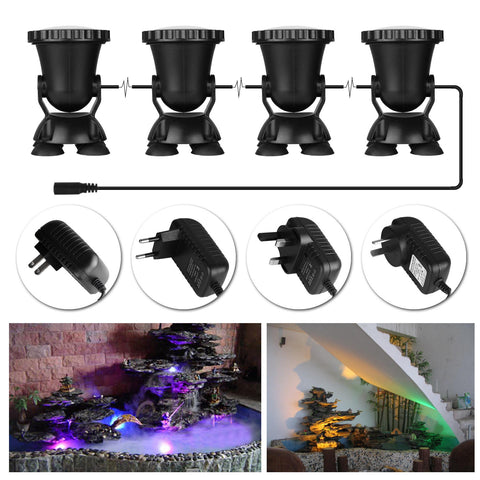 4 Pcs Multicolor Garden Spot Light