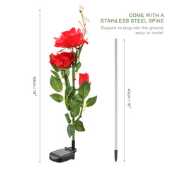3 LED Solar Powered Roses Lights-Smart Garden Shop