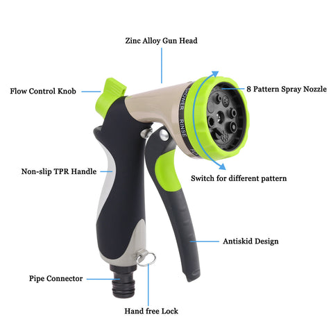 Garden Hose Nozzle Hand Sprayer-Smart Garden Shop