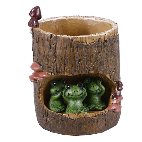 Cute Green Frog Pot Planter-Smart Garden Shop