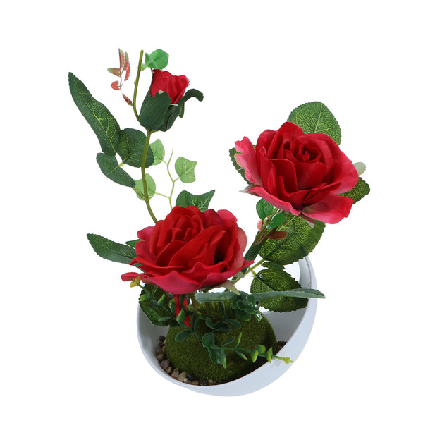 Artificial Rose Plant with Pot